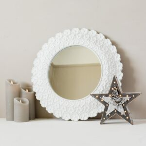 Large White Daisy Mirror
