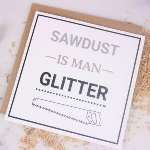 Fathers Day Man Glitter Card