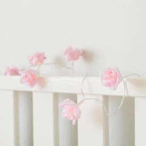 Pink Rose Battery Fairy Lights Warm White LEDs