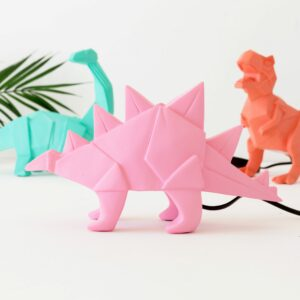 Pink Stegosaurus Dinosaur Night Light Assortment with Plug