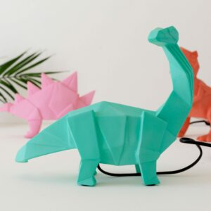 Green Diplodocus Dinosaur Night Light with Plug