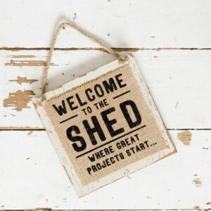 Hessian Man Sign Welcome