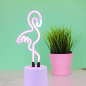 Mini Neon Pink Flamingo Table Lamp