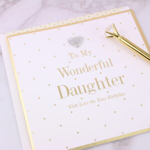 Large Wonderful Daughter Birthday Card