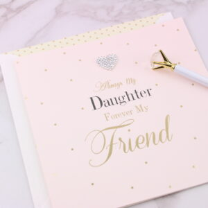 Large Always My Daughter Card