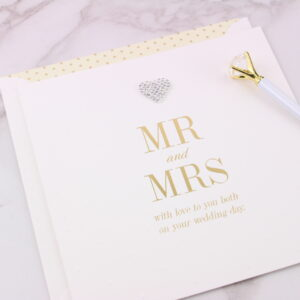 Large Mr & Mrs Wedding Card