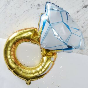 Self Inflated Hen Party Foil Ring Balloon