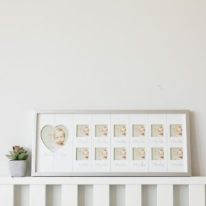 Landscape Sentiments Silver My First Year Baby Photo Frame