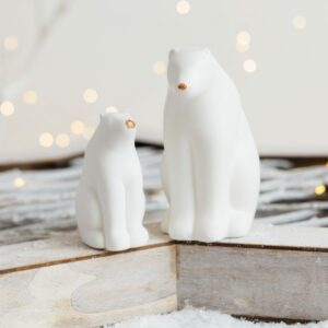 White & Copper Polar Bears