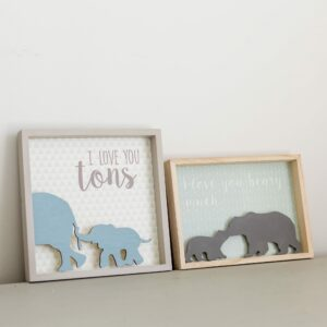 Elephant or Bear Wooden Plaque