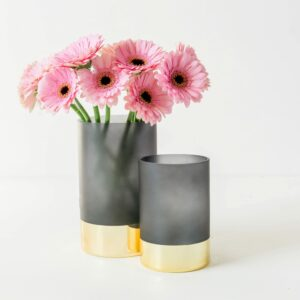 Gold & Matte Black Glamour Vase Assortment