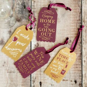 Wooden Wine Slogan Tags