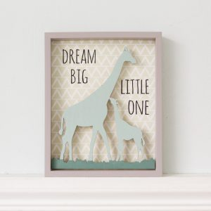 Dream Big Little One Giraffe Wall Plaque