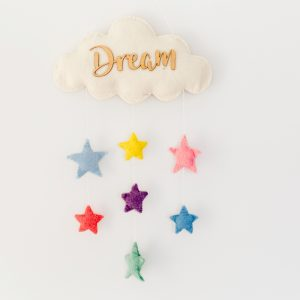Felt Dream Cloud & Star Hanging Mobile