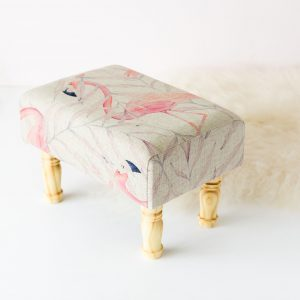 Rectangular Flamingo Foot Stool