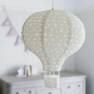 Grey Hot Air Balloon Lampshade