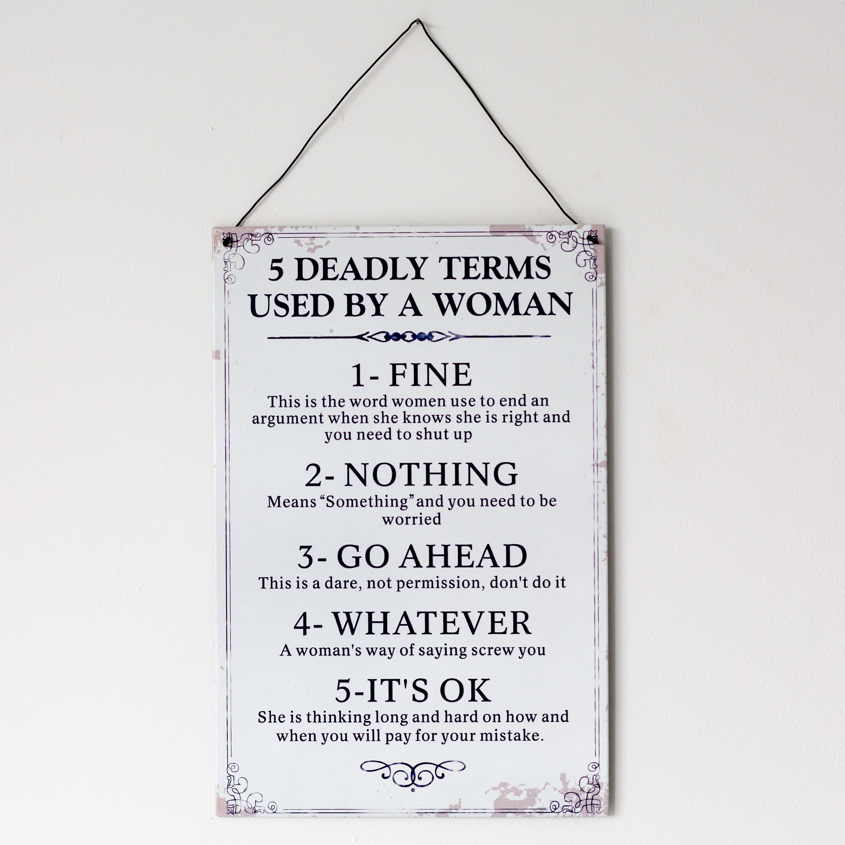 Deadly Terms Metal Sign