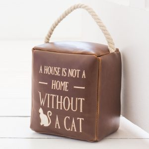 House Is Not A Home Cat Door Stop