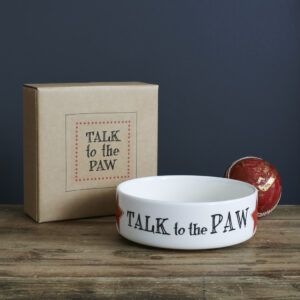 Talk To The Paw Small Pet Bowl