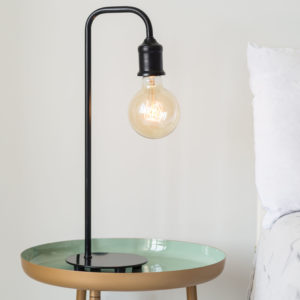 Black Metal Industrial Style Table Lamp