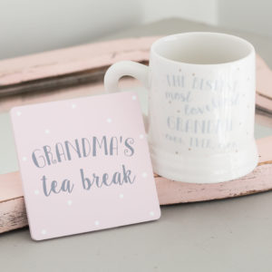 Grandma's Tea Break Mug & Coaster Set Assortment