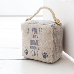 Chevron House Is Not A Home Cat Door Stop
