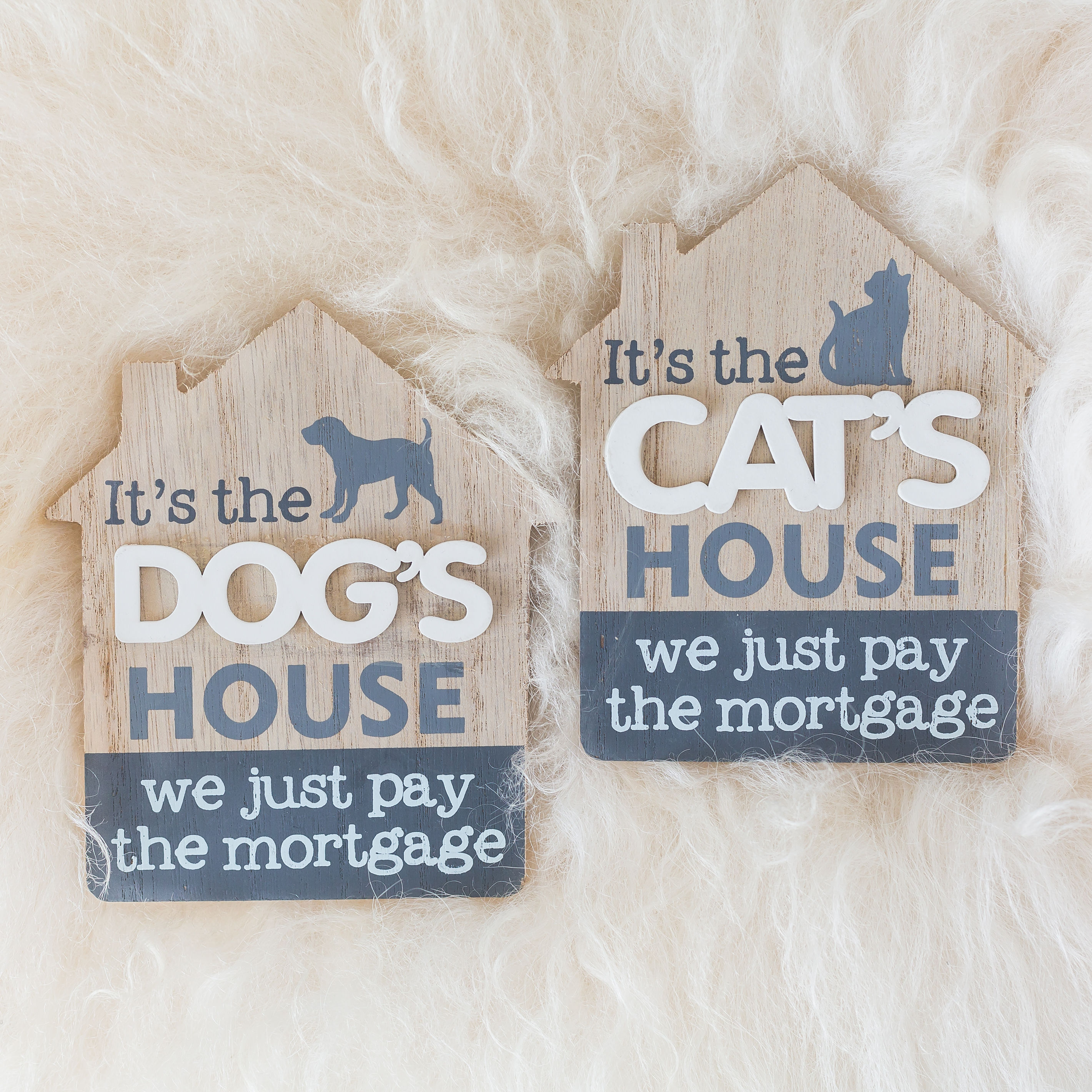 It's The Cat Or Dog's House Sign