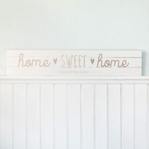 Giant Home Sweet Home Wooden Plaque