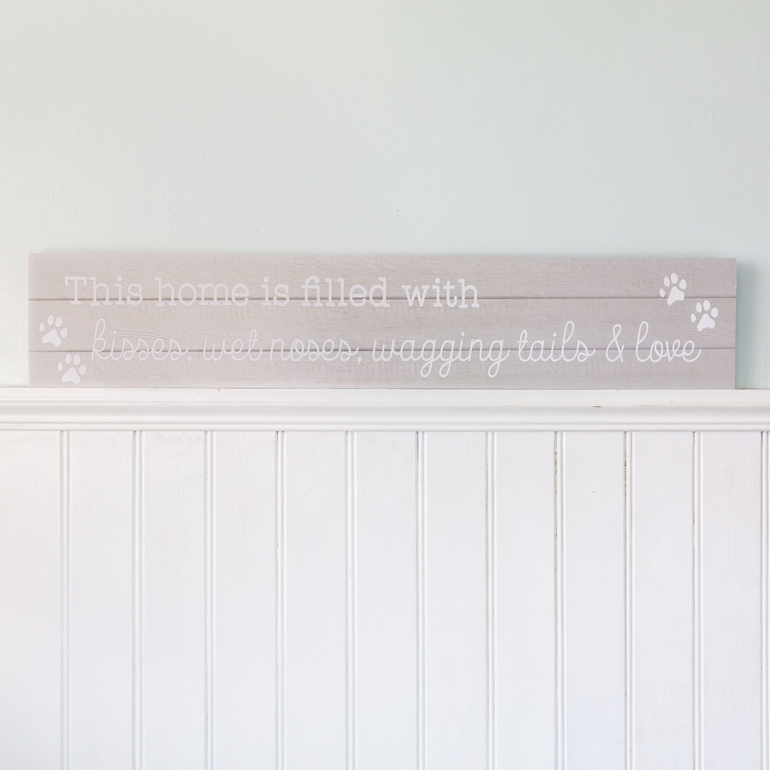 Giant Grey Wagging Tail Wooden Plaque