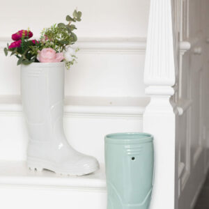 Wellington Boot Planter - Grey Or Sage Green