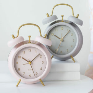 Small Pink Or Grey Alarm Clock
