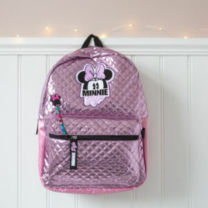 Kids Disney Minnie Mouse Style Pink Backpack